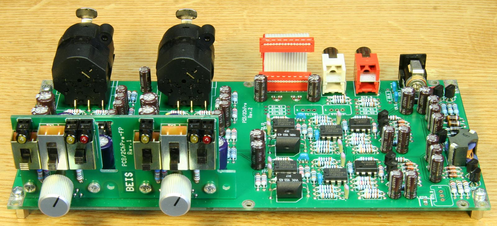 2chpre Dual Channel Preamplifier For A D Converter Ad24qs Doityourself Diy Double Sided Pcb Circuit Board Etching Do It Resolution 800 Or