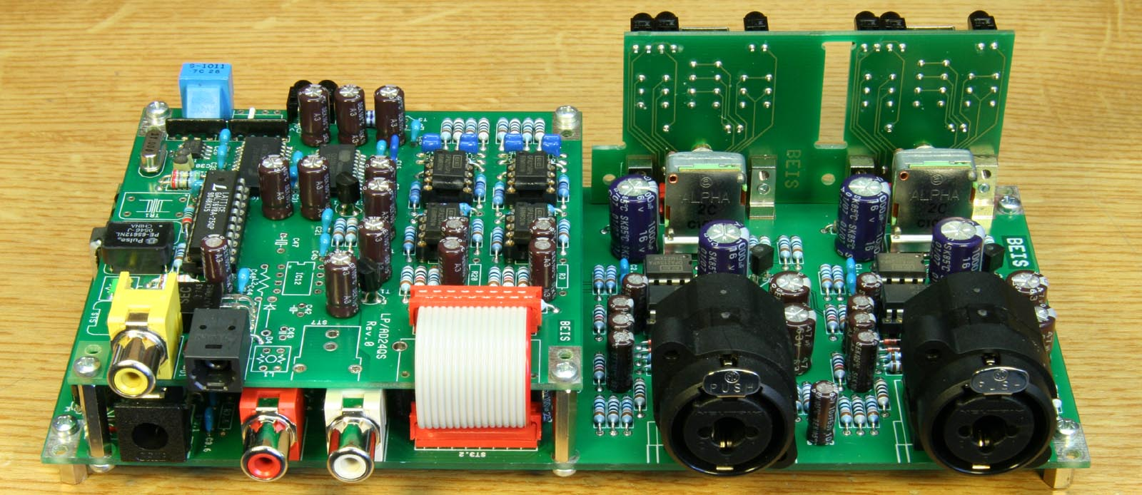 2chpre Dual Channel Preamplifier For A D Converter Ad24qs Stereo Noise Limiter Circuit Click To Enlarge