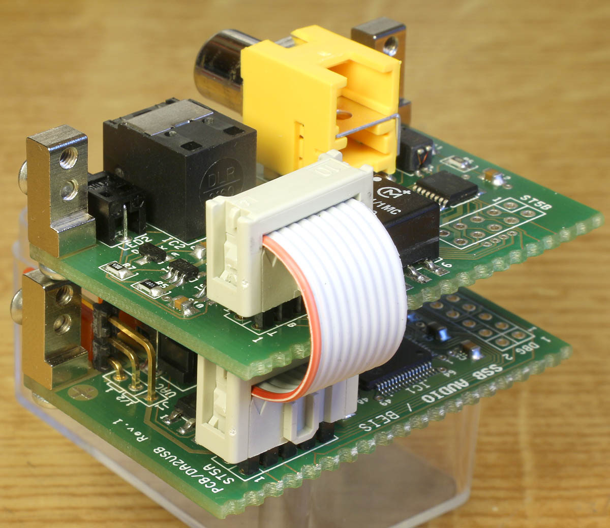 Da2usb Digital Audio To Usb Interface Pcb Led Circuit Beginner Seeks Help Electrical Engineering Stack Stacked