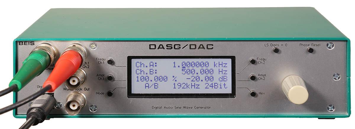 DASG - Digital Audio Sine Wave Generator